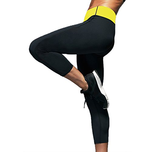 Womens Slim Capris Pants Thermo Neoprene Sweat Sauna Body Shapers Yoga Leggings