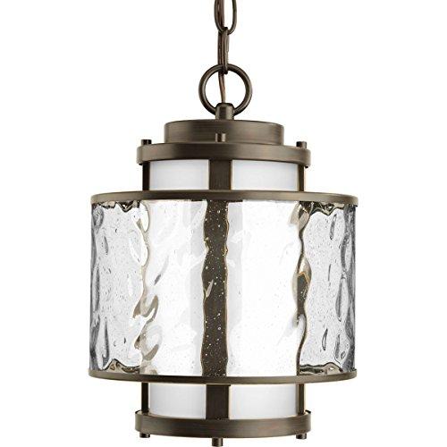 Progress Lighting P5589-09 Bay Court Collection 1-Light Hanging Lantern, Brushed Nickel