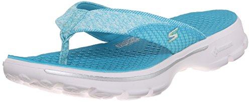 Turquoise Flip Flop Skechers Walk Pizazz Performance Go Womens TTPOq