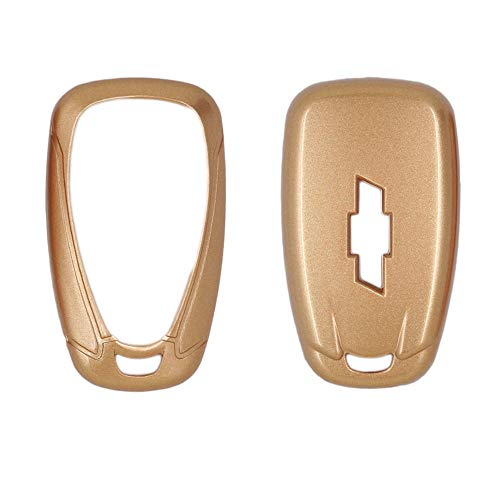 SEGADEN Paint Metallic Color Shell Cover Hard Case Holder fit for CHEVROLET Smart Remote Key Fob 2 3 4 5 6 Button SV0654 Gold - Metallic Key Fob