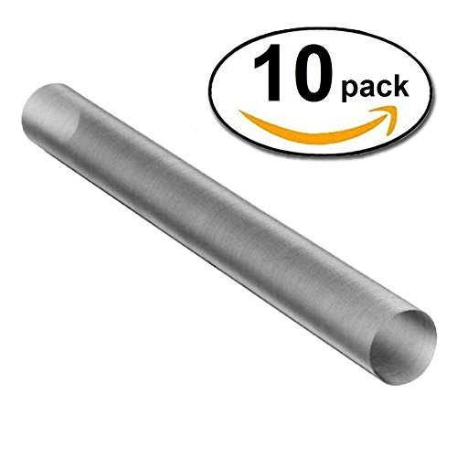 Bubble Magic Stainless Steel Mesh Rosin Extraction Terp Tubes 1'' x 9'' (10-Pack, 75 Micron)