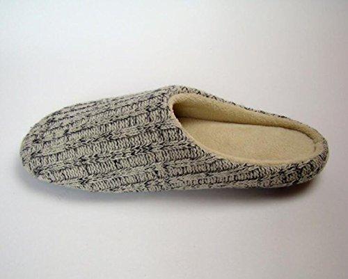 Bronze Times (tm) Pantofole Antiscivolo Da Uomo In Cotone Nero Beige