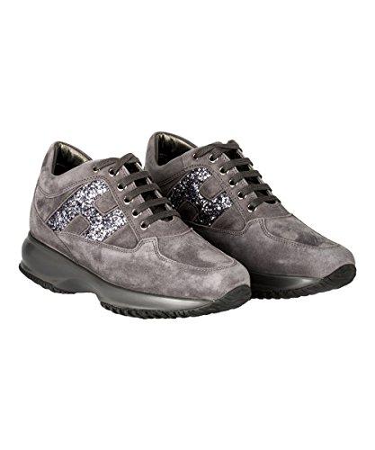 Hogan Sneakers Donna HXW00N0S3609KEB800 Camoscio Grigio