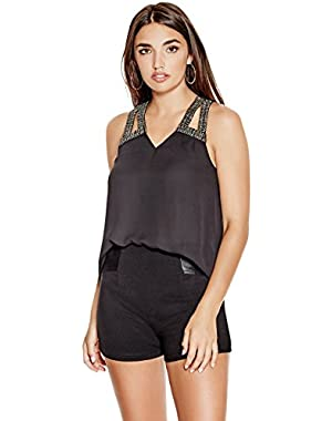 GUESS Orielle Embellished Top