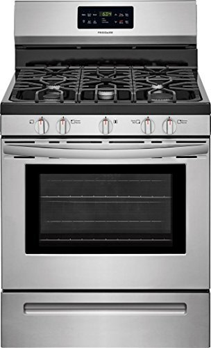 Frigidaire FFGF3056TS 30 Inch Freestanding Gas Range with 5 Sealed Burner Cooktop, 5 cu. ft. Primary Oven Capacity, in Stainless Steel