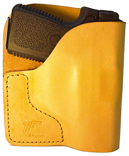 Garrison Grip Tan Italian Leather Pocket Holster for Kahr P380, CW380 and Similar Guns