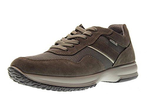 Grigio E In 12102 Soft Italy Tessuto Uomo Made Asfalto Pelle Sneaker Scarpa Enval 7ROwq0