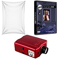 Virtual Reality Christmas Projector Kit with HD Projector Santa DVD and High Resolution Screen