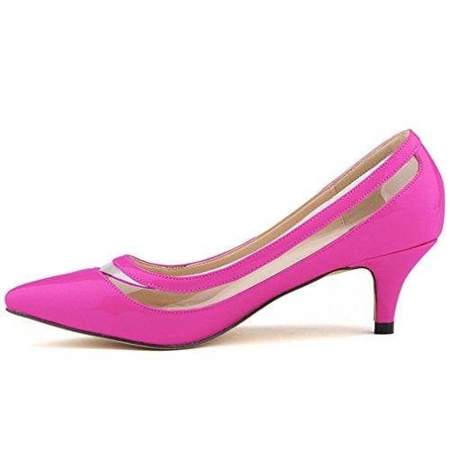 SAMSAY Women's Kitten Heels Dress Pumps Office Work Shoes