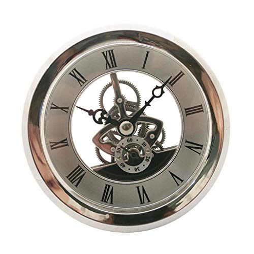 Fenteer 103mm Dial Bezel Metal Chromed Silver Clock Watch Insert Quartz Movement -
