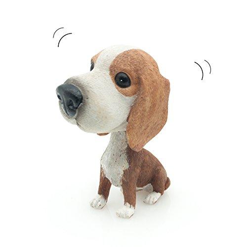 Velener Nodding Dog Ornaments Mini Bobble-Head Toys for Car Decoration (Posavac Hound)