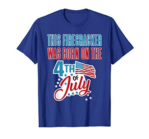 4th of July Birthday T-Shirt Firecracker Born on Fourth