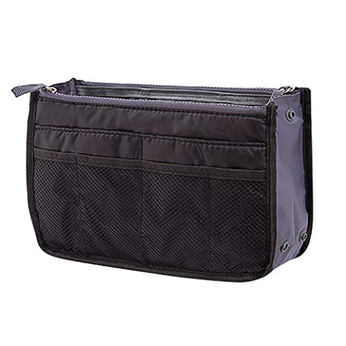 Storage for Blue Tidy Organize Black Cosmetic Light Clothing Organiser Large Purse Handbag Capacity Insert DOLDOA Women Liner Organizer Travel Bag zUOwp