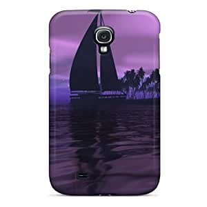 Galaxy S4 Case, Premium Protective Case With Awesome Look - Purple Sky