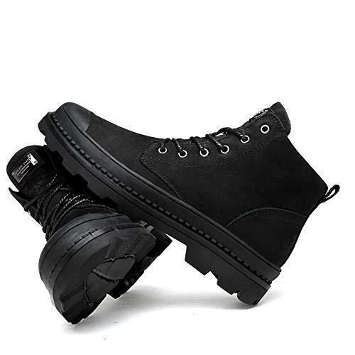 da tomaia scarpe Stivaletti Stivali alto con Nero Uomo cotone shoes lavoro in in confortevole da 2018 camminare compagnia confortevole vivere Xujw optional casa da uomo e per convenzionale alte in wzq8X5Xa