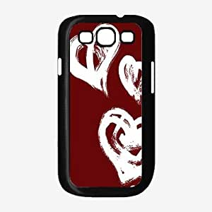 Heart Pattern on Red Background TPU RUBBER SILICONE Phone Case Back Cover Samsung Galaxy S3 I9300