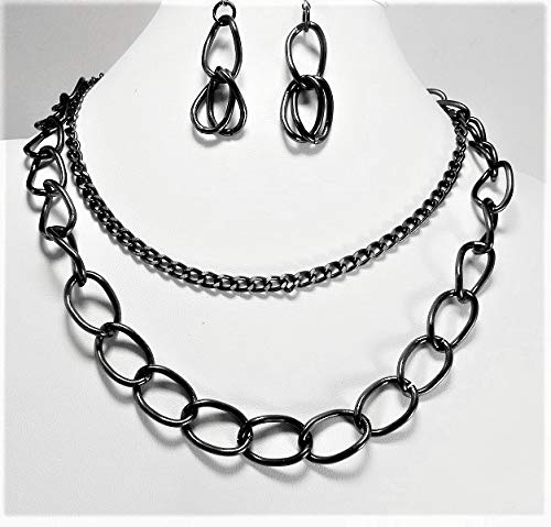 7fc5b4af75f Amazon.com  Double-Strand Aluminum Chain Jewelry Set  Handmade