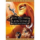 The Lion King (DVD, 2003, 2-Disc Set, Platinum Edition)