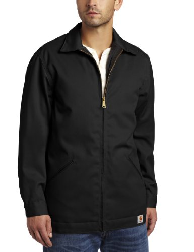 Carhartt Men's Big & Tall Twill Work Jacket,Black,XXXX-Large by Carhartt