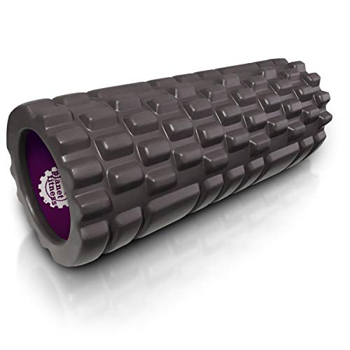 Planet Fitness Muscle Massager Foam Roller for Deep Tissue Massage, Back, Trigger Point Therapy, Purple or Grey, 13 or 18 Inches – DiZiSports Store