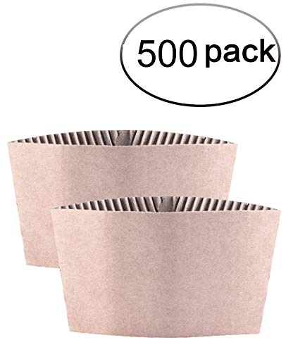 Cup Corrugated (Kindpack Protective Corrugated Coffee Cup Sleeves For 12oz 16 oz 22oz 24oz,50 Count And 500 Count)