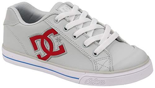 DC Girls' Chelsea Sneaker, Grey/Pink, 4 M M US Big Kid
