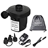 Joycoo Electric Air Pump Air Mattress Pump Airbed Pump Portable Inflate Pump Travel Inflator Deflator for,Pools, Boats,raft, Airbeds, Inflated Toy AC 240V DC 12V
