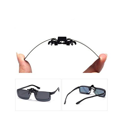279d871d852 Tacloft Unisex Clip on Sunglasses 58mm Driving Outdoor Sports Glsses  CLIPON001