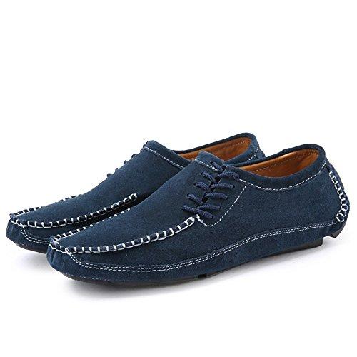 Da guida tacco Mocassino Color Blu shoes Scarpe tinta 47 Tacco uomo da Uomo Mocassini piatto unita spillo EU speciale Shufang Dimensione Blu da a 2018 Z8tWq5