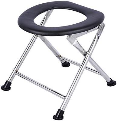 HXLQ 便器椅子、折り畳み式のステンレス製のトイレの椅子、ポータブル便器、高齢者、妊娠中、子供用のシャワーチェアに適しています