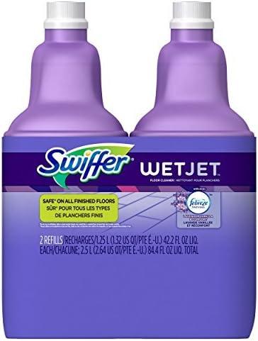 Swiffer WetJet Multi-purpose Floor Cleaner Solution RefillFebreze Vanilla Scent 2 Pack of 1.25L by Swiffer