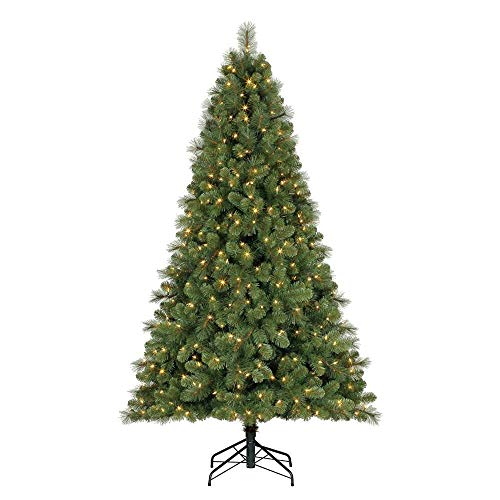 Home Heritage 9 Foot Artificial Cascade Pine Christmas Tree with Adjustable White and Colorful Changing Lights (9 Foot Christmas Tree With Changing Lights)