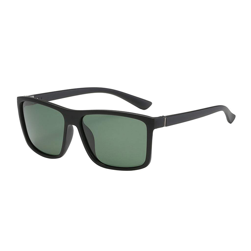 Mens Classic Sunglasses UV400 Square Frame Polarized Sunglasses Lenses Vintage Sun Glasses OutTop TM Red