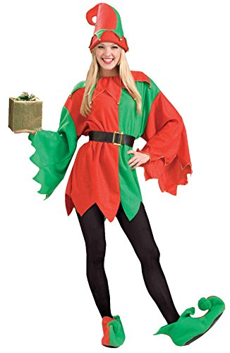 UHC Women's Santa Helper Elf Outfit Holiday Theme Fancy Dress Christmas Costume, STD (Up to (Plus Size Santas Helper Christmas Costumes)