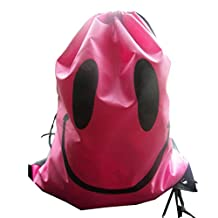 Unisex Children Boys Girls Kids Knapsack Gym Drawstring Backpack Bag Pouch Sack Sac Cinch Book