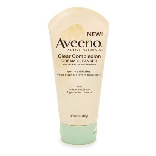 Aveeno Active Naturals Clear Complexion Cream Cleanser 5 Oz