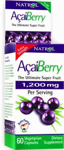 Natrol AcaiBerry, Ultimate Super Fruit (1200mg), 60 Vcaps Comte