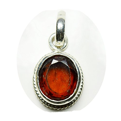 Pendant Faceted Silver Sterling (CHOOSE YOUR COLOR Natural Gemstone Chakra Healing Pendant Sterling Silver 5 Carat Handmade Charm)