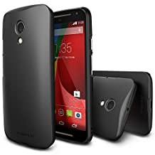 Moto G 2014 Case - Ringke SLIM Moto G 2nd Gen. Case [Free HD Film/Better Grip][SF BLACK] Premium Dual Coated Hard Case for Motorola Moto G 2nd Gen. 2014 - Eco Package