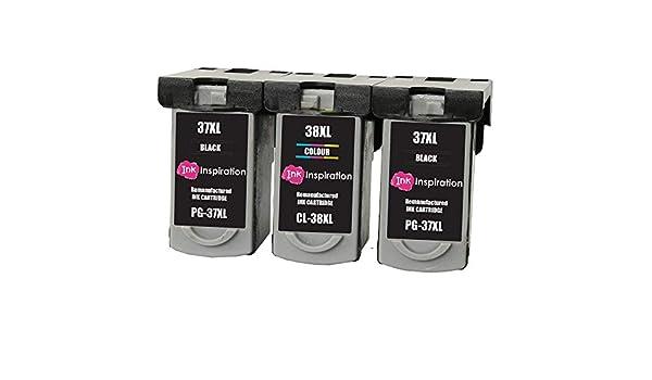 INK INSPIRATION® 3 Cartuchos de Tinta Remanufacturados para Canon ...
