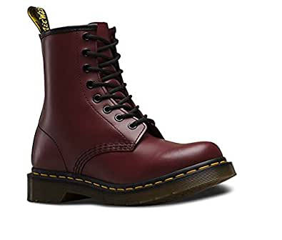 Dr. Marten's Women's 1460 8-Eye Patent Leather Boots, Cherry Red Rouge Smooth, 3 F(M) UK / 5 B(M) US Women / 4 D(M) US Men