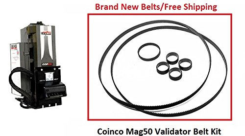 Coinco Belts MAG50B - Bill Pro Validator Rebuild belt kit 7pc by Coinco