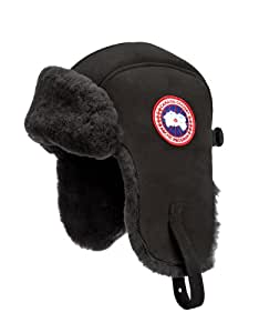 Canada Goose Men's Suede Shearling Pilot Hat (Large/X-Largearge, Black)