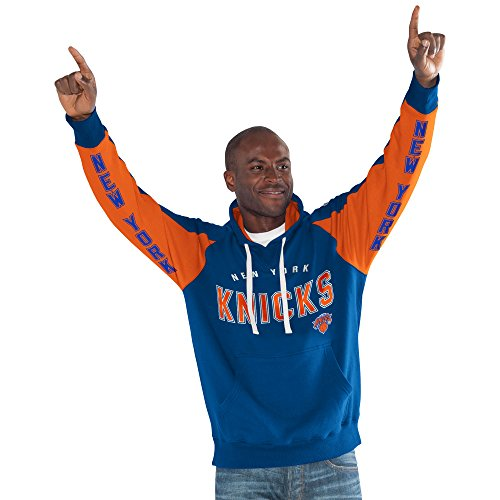 NBA New York Knicks Adult Men's Centerfield Pullover Hoody, 6X, Royal