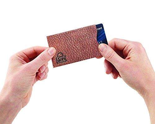 Card Lock RFID Protection Sleeves, Leather Print - As Seen On TV Photo #3