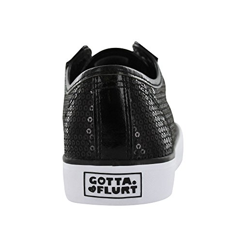 Gotta Flurt Disco Ii Lace Up Low Top Sneaker Black