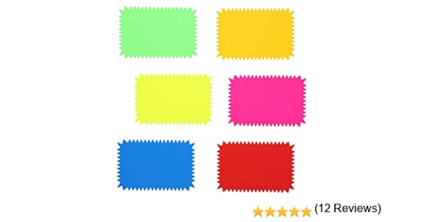Juvale Starburst Cutouts Display Sale Signs 6 Colors Pack of 96 4 x 6 Inches