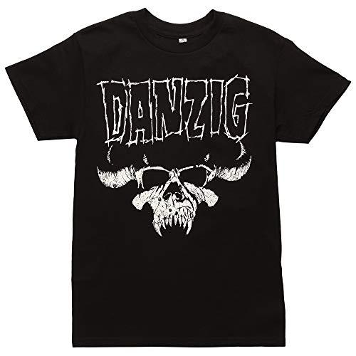 FEA Men's Danzig Skull Logo T-Shirt, Black, Small