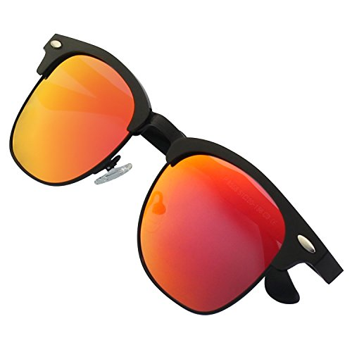MS0 Hommes Frame de lunettes Noir UV400 Retro Mg GQUEEN Rouge soleil Protection Al polarisées 2 PZIwI