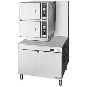 """Natural Gas Cleveland 36-CGM-300 Classic Series Six Pan Gas Convection Floor Steamer with 36"""" Boiler"""
